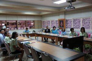 โรงเรียนรับการตรวจโครงการโรงเรียนคุณธรรมนนทบุรี เทิดไท้องค์ราชัน
