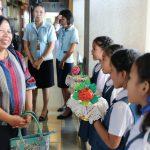 โรงเรียนรับการตรวจโครงการโรงเรียนคุณธรรมนนทบุรี เทิดไท้องค์ราชัน ปีการศึกษา 2562